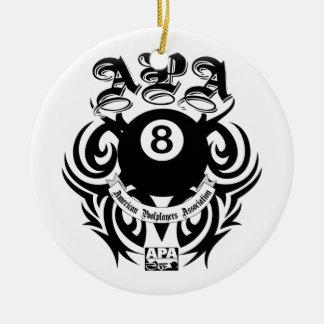 APA 8 Ball Gothic Design Ceramic Ornament