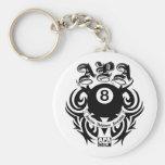 APA 8 Ball Gothic Design Basic Round Button Keychain