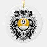 APA 9 Ball Gothic Design Ceramic Ornament