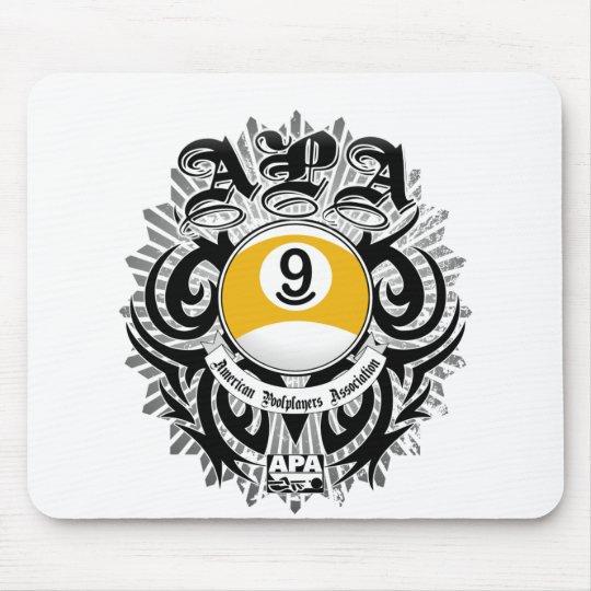 APA 9 Ball Gothic Design Mouse Pad