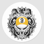 APA 9 Ball Gothic Design Stickers