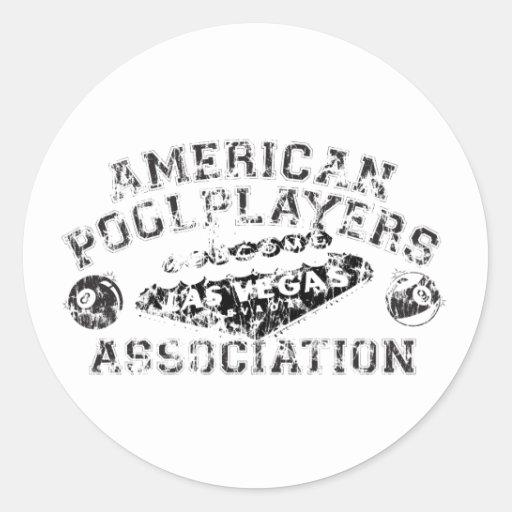 APA Distressed Design Classic Round Sticker