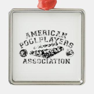 APA Distressed Design Metal Ornament