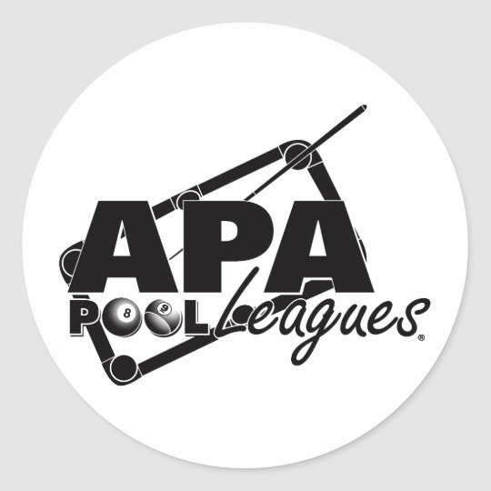 APA Leagues Classic Round Sticker
