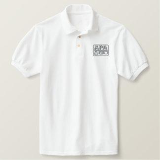 APA Logo - Grey Embroidered Polo Shirt