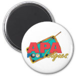 APA Pool Leagues 2 Inch Round Magnet