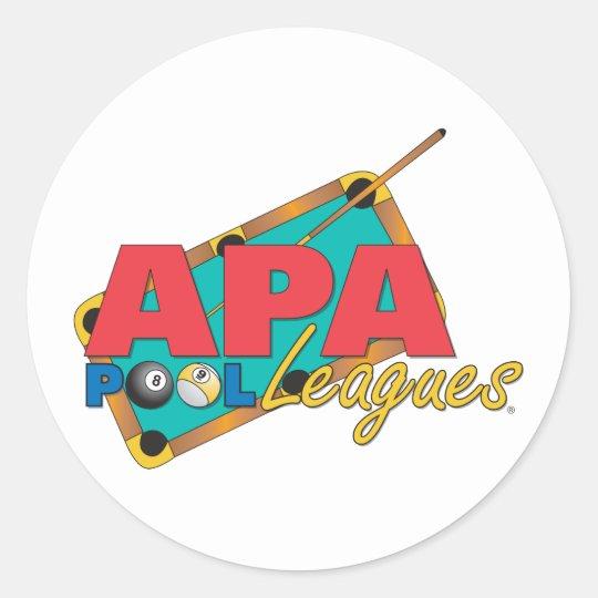 APA Pool Leagues Classic Round Sticker