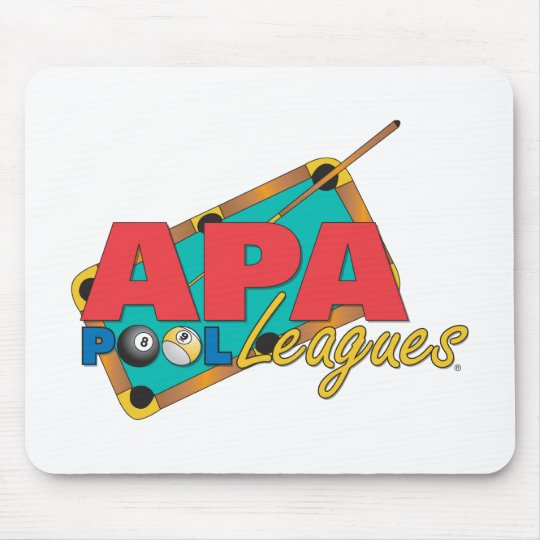 APA Pool Leagues Mouse Pad