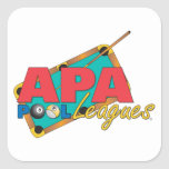 APA Pool Leagues Square Stickers