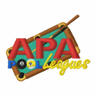 APA PoolLeagues Logo Embroidered Track Jackets