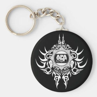 APA Table Runner Black and White Keychain
