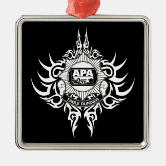 APA Table Runner Black and White Metal Ornament