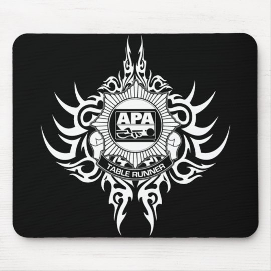 APA Table Runner Black and White Mouse Pad