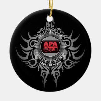 APA Table Runner Red Ceramic Ornament