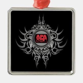 APA Table Runner Red Metal Ornament