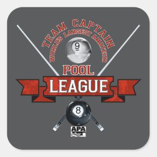 APA Team Captain Square Sticker