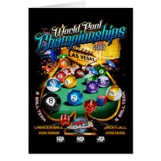 APA World Pool Championships 2017 Card