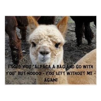 Apaca bag postcard