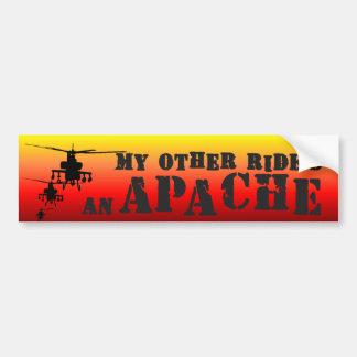 Apache1 Pegatina De Parachoque