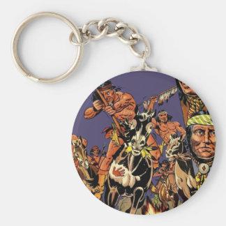 Apache 1 basic round button keychain