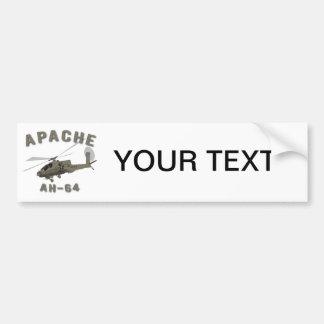 Apache AH-64 Pegatina De Parachoque