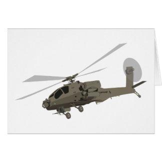 Apache AH-64 Greeting Card