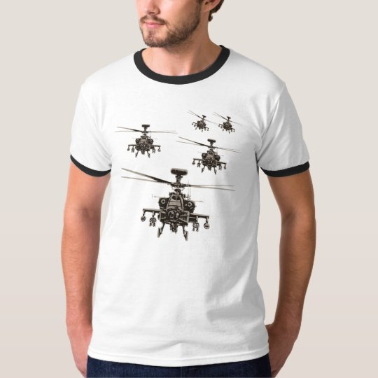 Apache AH-64 helicopter military T-Shirt