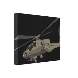 Apache AH-64 Impresión En Lienzo