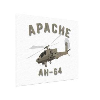 Apache AH-64 Impresion De Lienzo