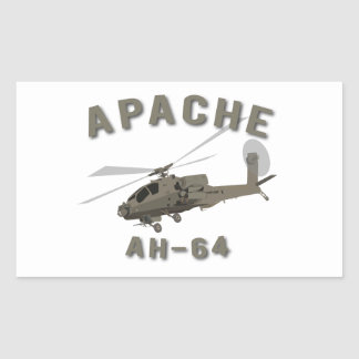 Apache AH-64 Rectangular Sticker