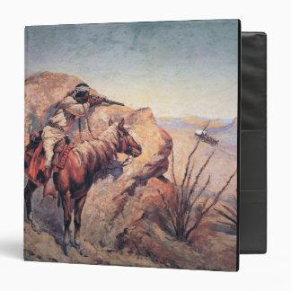 Apache Ambush (oil on canvas) 3 Ring Binder