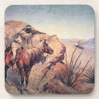 Apache Ambush (oil on canvas) Beverage Coaster