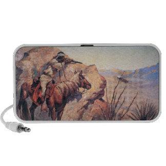 Apache Ambush (oil on canvas) iPhone Speakers