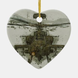 Apache Attack Helicopter Ceramic Ornament