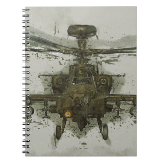 Apache Attack Helicopter Notebook