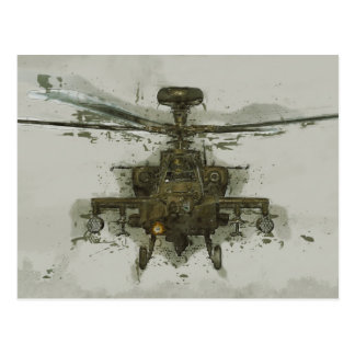 Apache Attack Helicopter Postcard