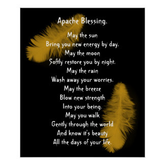 Apache Blessing golden feather Poster
