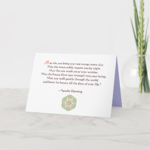 Graduation cards zazzle apache blessing greeting card m4hsunfo