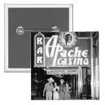 Apache Casino & Bar Vintage Las Vegas Photo Pinback Button