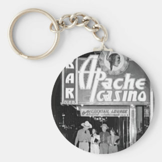 Apache Casino & Bar Vintage Las Vegas Photo Keychain