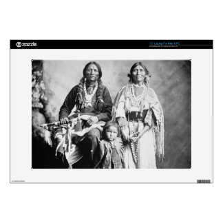 """Apache Chief Antonio Maria with his family, 1897 ( 15"""" Laptop Decal"""