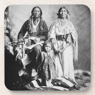 Apache Chief Antonio Maria with his family, 1897 ( Beverage Coaster