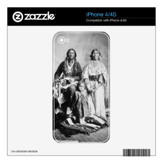 Apache Chief Antonio Maria with his family, 1897 ( Decal For iPhone 4