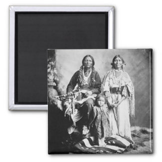Apache Chief Antonio Maria with his family, 1897 ( Magnet