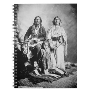 Apache Chief Antonio Maria with his family, 1897 ( Note Books