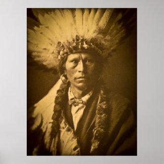 Apache Chief Garfield Jicarilla Vintage Print