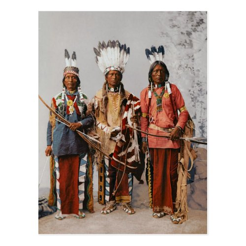 Apache Chiefs Garfield Ouche Te Foya 1899 Postcard