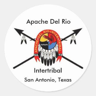 """Apache Del Rio Intertribal 3"""" Sticker"""