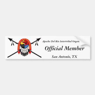 Apache Del Rio Intertribal Organization Bumper Sti Bumper Sticker