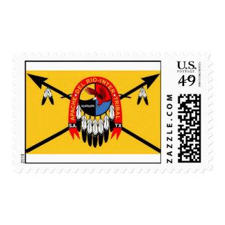 Apache Del Rio Intertribal Organization Flag Stamp